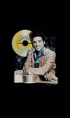 The King Digital Art - Elvis - Gold Record by Brand A