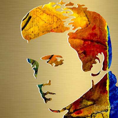 Elvis Gold Series Art Print
