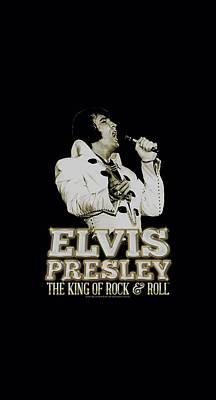 The King Digital Art - Elvis - Golden by Brand A