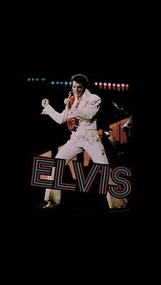 The King Of Pop Digital Art - Elvis - Hit The Lights by Brand A