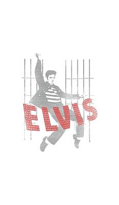 The King Digital Art - Elvis - Iconic Pose by Brand A