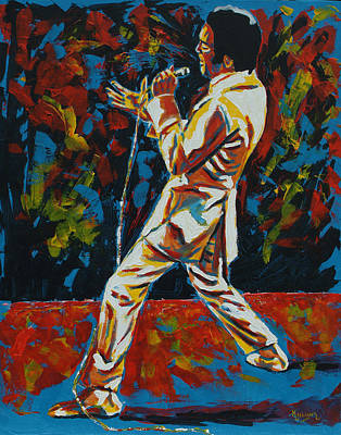 Patrick Painting - Elvis If I Can Dream by Patrick Killian