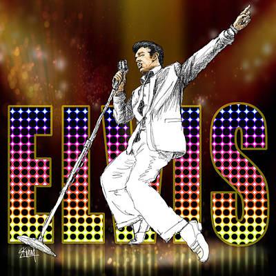 Digital Art - Elvis 2 by Stan Kwong
