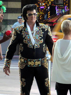 Photograph - Elvis Impersonator  by Kay Novy