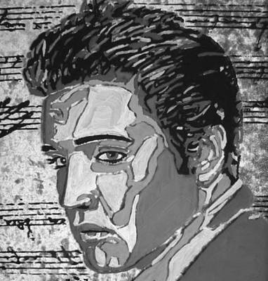 Digital Art - Elvis In Black And White Digitalized by Photo Shirts