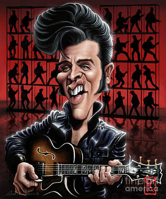 The King Drawing - Elvis In Memphis by Andre Koekemoer