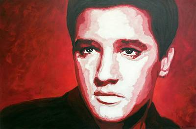 Elvis In Red Original by Christian Carrette