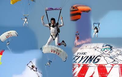 Elvis In The Sky Art Print