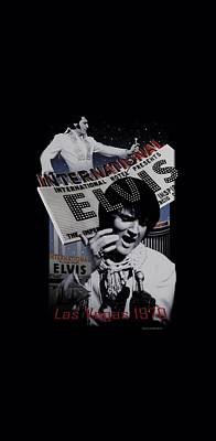 The King Digital Art - Elvis - International Hotel by Brand A