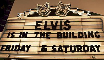 Elvis Is In Art Print