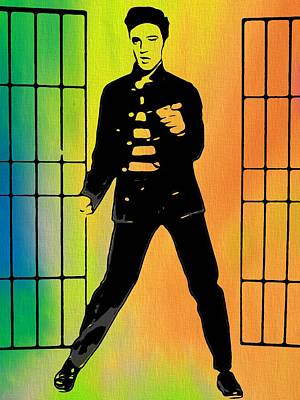 Elvis Jailhouse Rock  Art Print by Dan Sproul