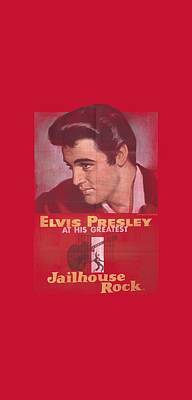 The King Digital Art - Elvis - Jailhouse Rock Poster by Brand A