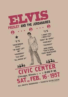 The King Digital Art - Elvis - Jordanaires by Brand A