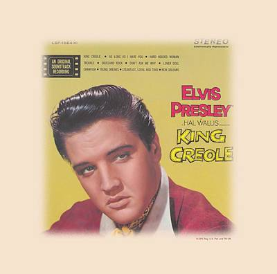 The King Of Pop Digital Art - Elvis - King Creole Soundtrack by Brand A