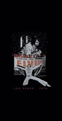 Elvis Presley Digital Art - Elvis - Las Vegas by Brand A