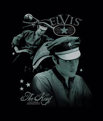 The King Digital Art - Elvis - Let's Ride by Brand A