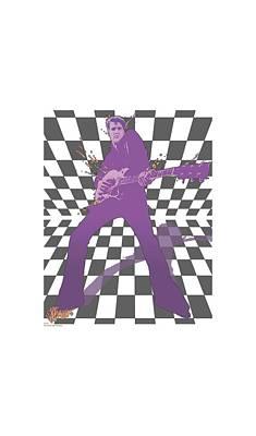 King Of Rock Digital Art - Elvis - Let's Rock by Brand A