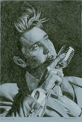 Elvis Live '56 Print by Rob De Vries