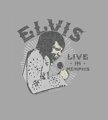 The King Digital Art - Elvis - Live In Memphis by Brand A