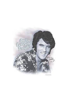 The King Digital Art - Elvis - Lonesome Tonight by Brand A
