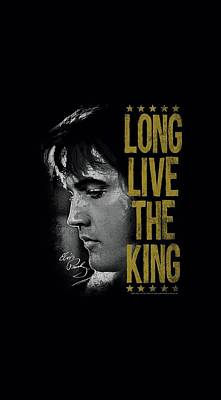 The King Of Pop Digital Art - Elvis - Long Live The King by Brand A