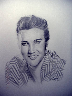 Drawing - Elvis by Lori Ippolito