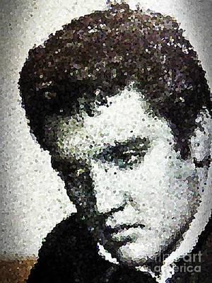 Digital Art - Elvis Love Me Tender Mosaic by Saundra Myles