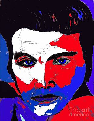 Painting - Elvis Made In The U S A by Saundra Myles