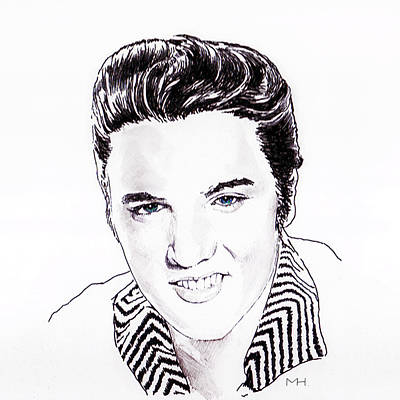 Elvis Art Print by Martin Howard