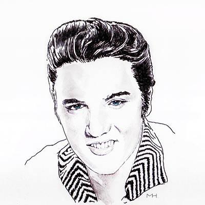 Elvis Print by Martin Howard