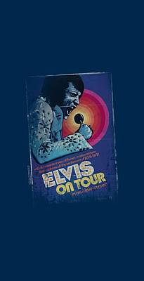 The King Digital Art - Elvis - On Tour Poster by Brand A