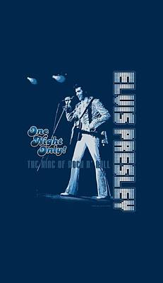 The King Digital Art - Elvis - One Night Only by Brand A
