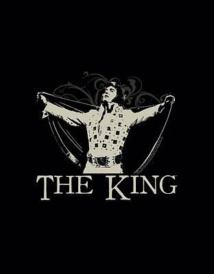 The King Of Pop Digital Art - Elvis - Ornate King by Brand A