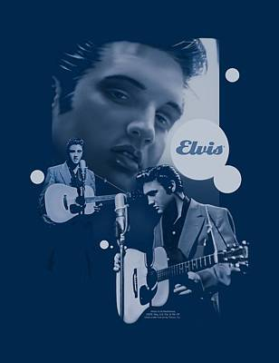 The King Digital Art - Elvis - Play That Guitar by Brand A