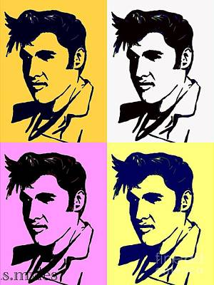Painting - Elvis Pop X Four by Saundra Myles