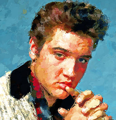 Sightseeing Digital Art - Elvis Portrait 3 by Yury Malkov