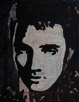 Painting - Elvis Presley 1  by Oscar Penalber