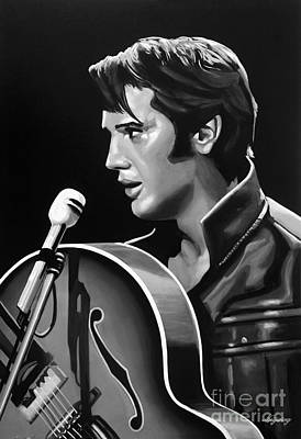 Music Mixed Media - Elvis Presley 3 by Meijering Manupix