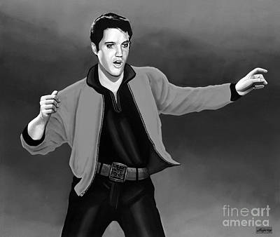 Music Mixed Media - Elvis Presley 4 by Meijering Manupix