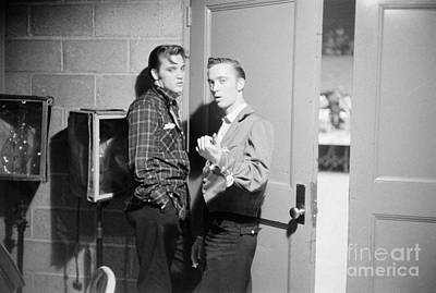 Elvis Presley Photograph - Elvis Presley And His Cousin Gene Smith 1956 by The Harrington Collection