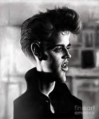 The King Drawing - Elvis Presley by Andre Koekemoer