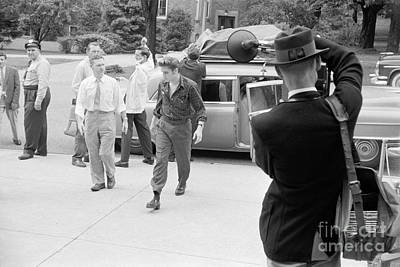 Elvis Presley Photograph - Elvis Presley Arriving For A Performance In 1956 by The Harrington Collection