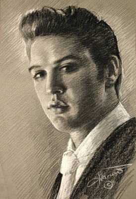 Drawing - Elvis Presley by Viola El