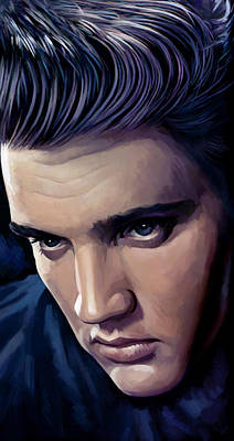 Elvis Presley Artwork 2 Art Print by Sheraz A