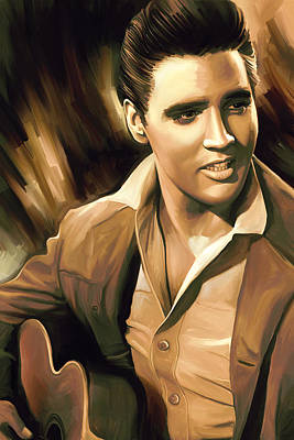 King Of Rock And Roll Painting - Elvis Presley Artwork by Sheraz A
