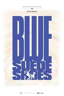 Digital Art - Elvis Presley - Blue Suede Shoes by David Davies