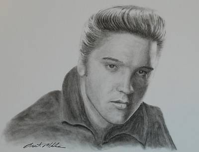 Drawing - Elvis Presley by Brent  Mileham