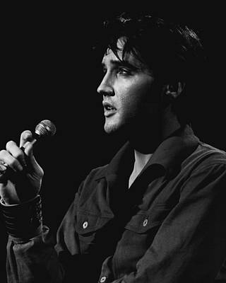 Movie Star Photograph - Elvis Presley Close Up Performing by Retro Images Archive