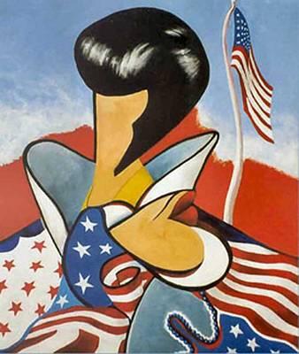 Painting - Elvis Presley, by George Flay