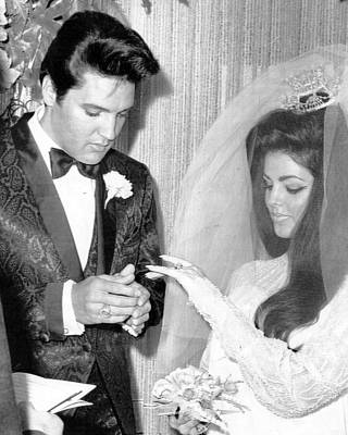 Movie Star Photograph - Elvis Presley Getting Married by Retro Images Archive